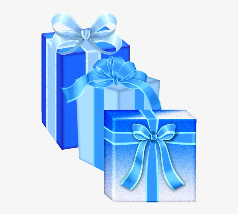 Gifts Transparent Transparent Christmas Blue Gift Box
