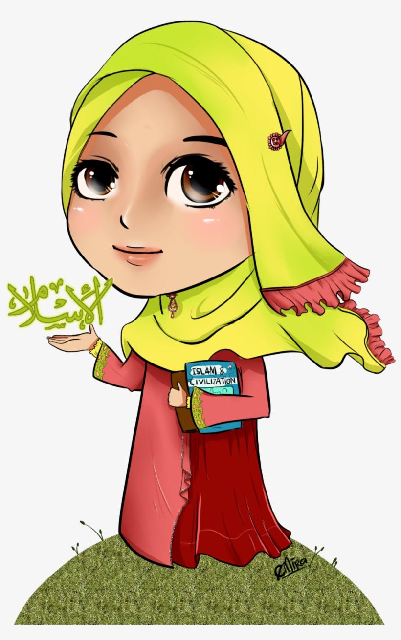 Chibi Clipart Muslimah   Kartun Kanak Kanak Islam Transparent PNG ...