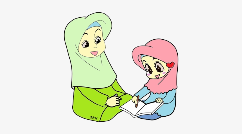Islam Clipart Ibu - Animasi Ibu Dan Anak Muslim ...