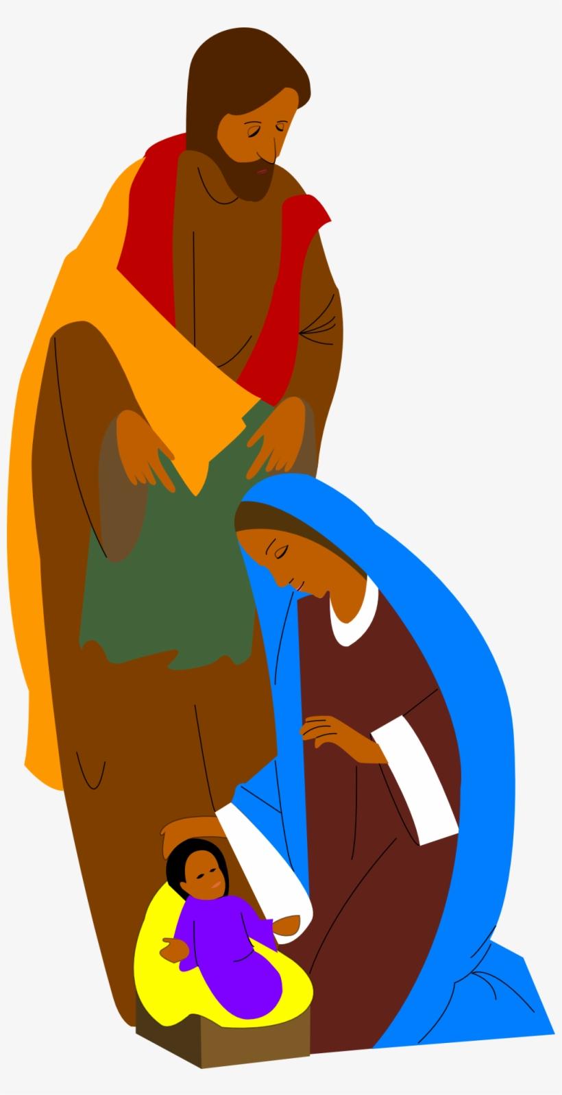 Virgin Mary And Baby Jesus II   Public domain vectors