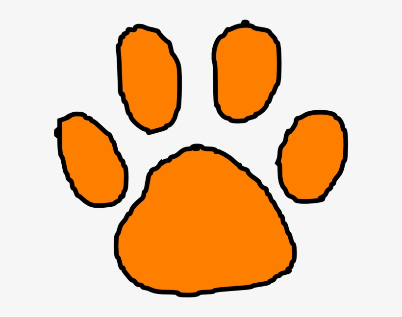 free tiger paw print clipart - tiger paw clipart transparent png - 600x567  - free download on nicepng  nicepng