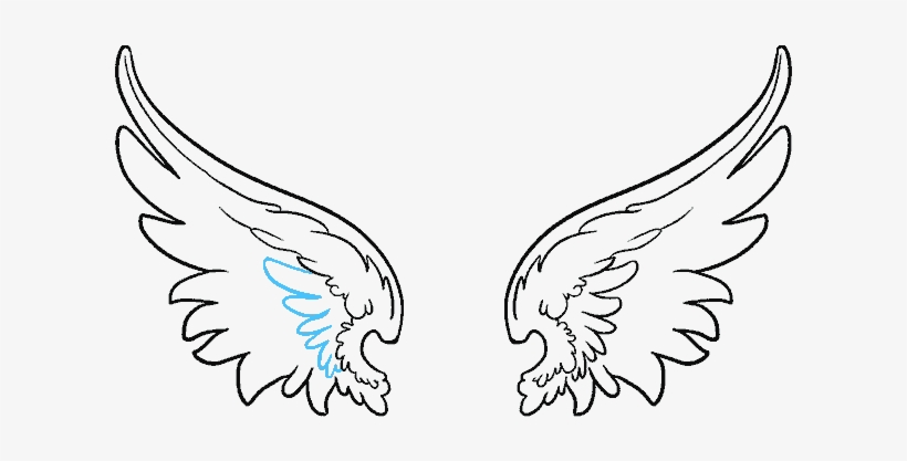 Vector Black And White Library How To Draw Angel Wings Easy Drawing Of Wings Transparent Png 678x600 Free Download On Nicepng