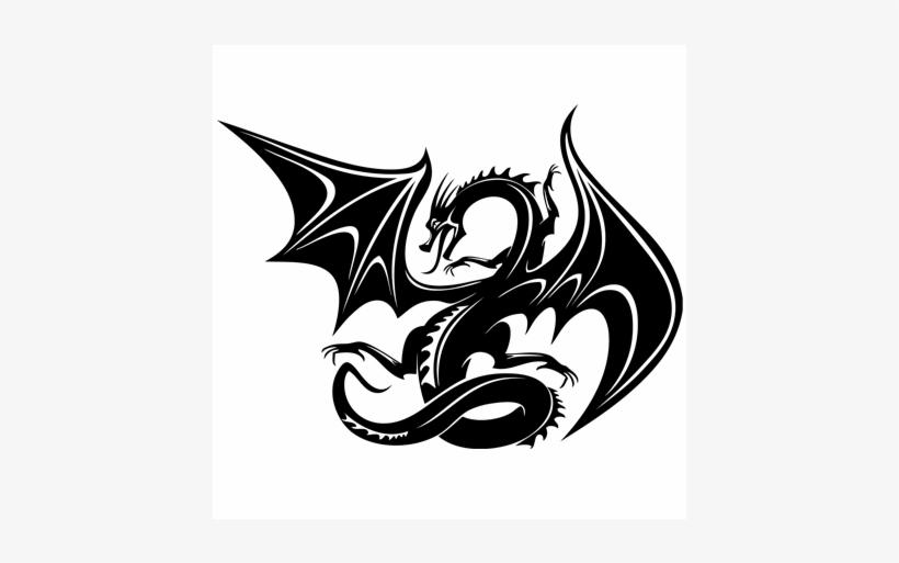 cf501b4d5 This Beautiful And Striking Flying Dragon Sticker Will - Tribal Dragon Hd  Tattoo
