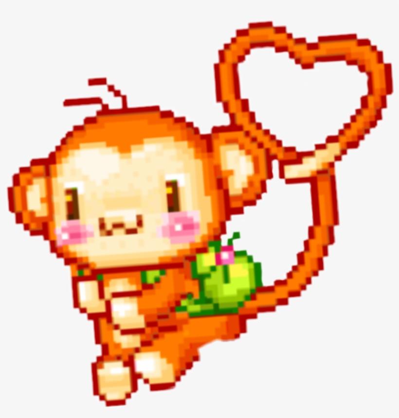 Monkey Pixel Pixelart Cute Kawaii Ape Png Kawaii Summer