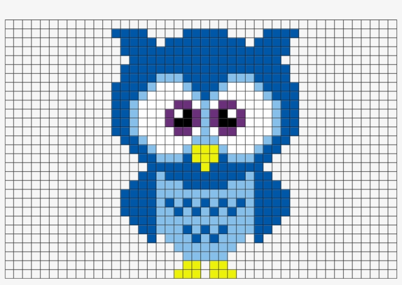 Blue Owl Pixel Art Pixel Art Blue Owl 8 Bit Art Animals