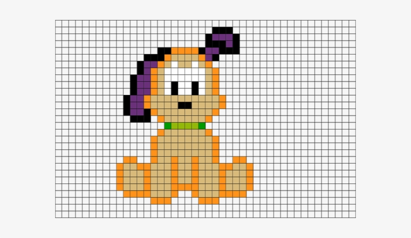 Brik Pixel Art On Twitter Easy Pixel Art Dog Transparent Png 600x396 Free Download On Nicepng