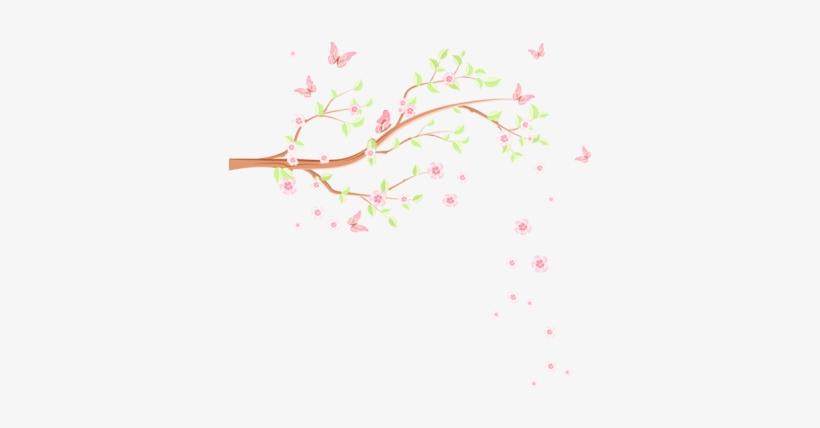 Galhos Com Flores Png Transparent Png 400x400 Free