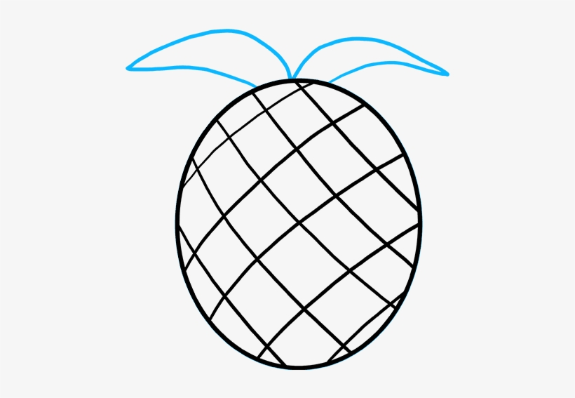How To Draw A Pineapple Really Easy Drawing Tutorial Easy Way To