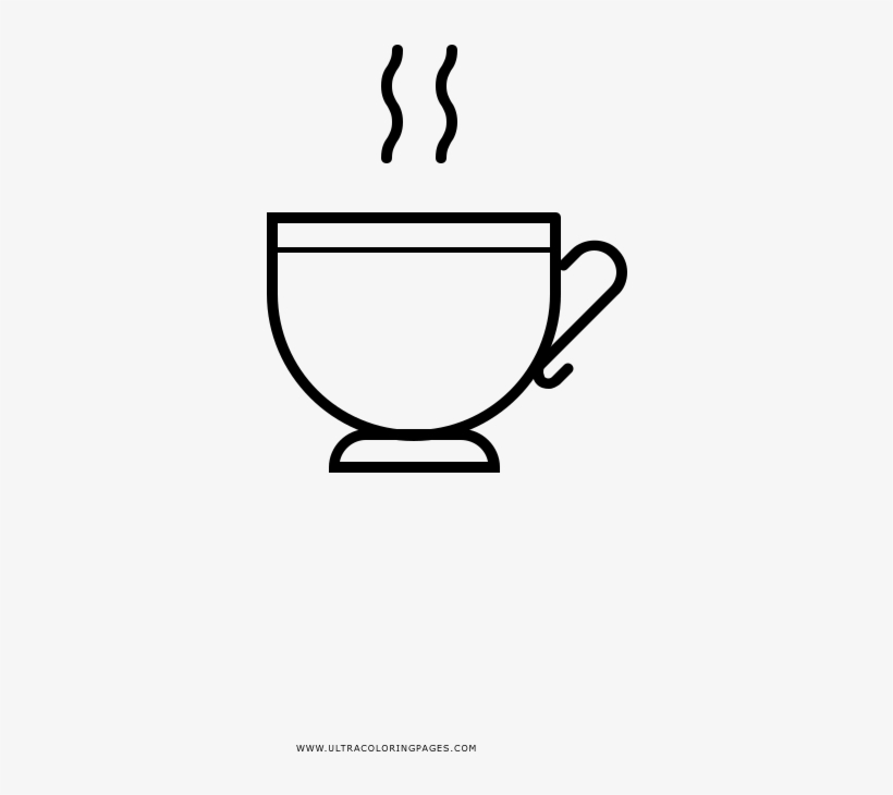 Teacup Coloring Page Drawing Transparent Png 1000x1000 Free Download On Nicepng