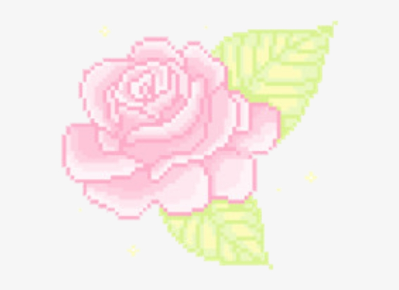 Rose aesthetic. Clipart soft bit flower