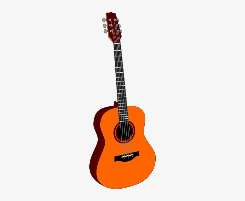 Free Vector Guitar Colored Clip Art Acoustic Guitar Clipart