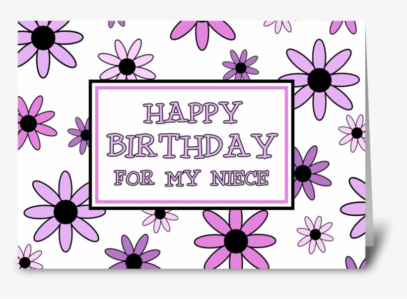 Niece Birthday Card Pretty Flowers Greeting Card Niece Birthday