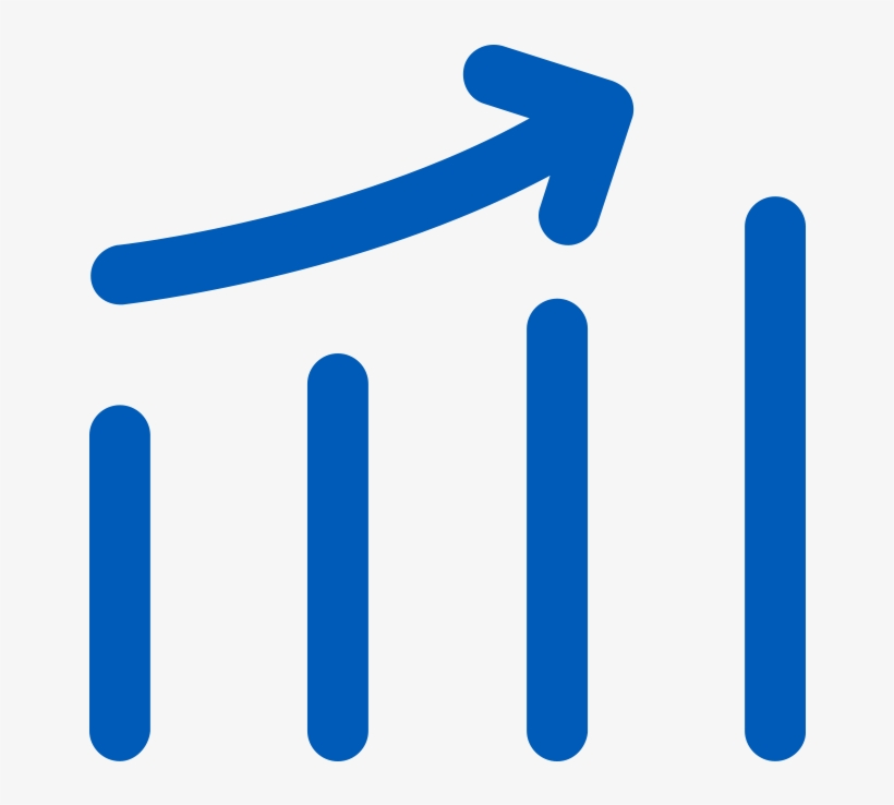 Icon Of Line Graph Going Up With Up Arrow Chart Transparent Png