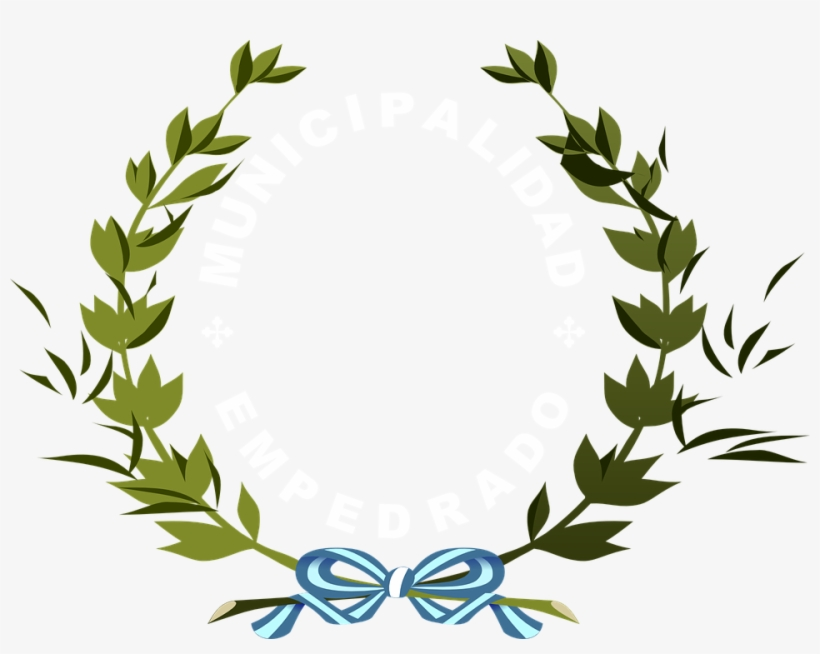 Laurel Leaf Crown Template Wreath Roman Lambang Bunga Png
