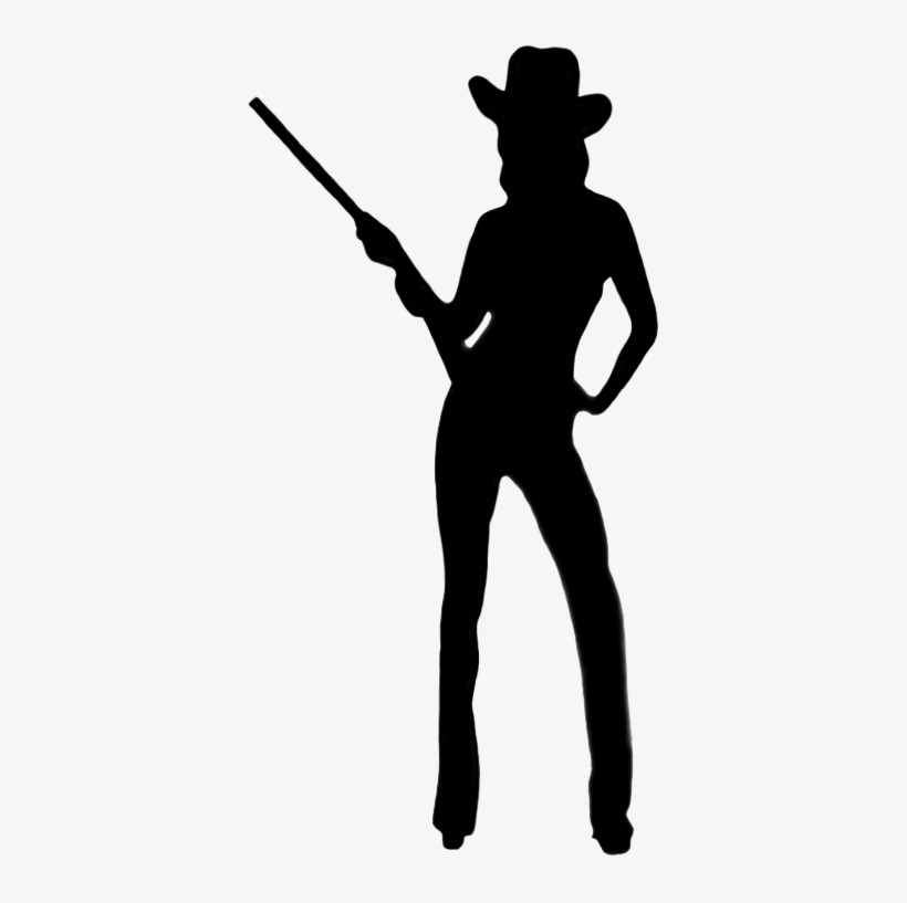 Cowgirl Silhouette Cowgirl Silhouette Png Transparent Png