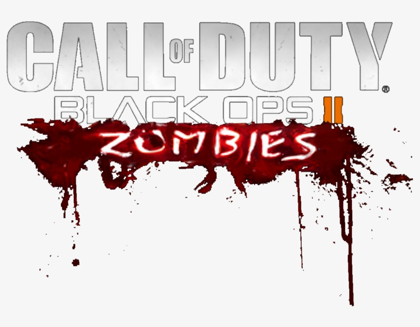 Black Ops 2 Zombies Logo Png Png Black And White Download Call