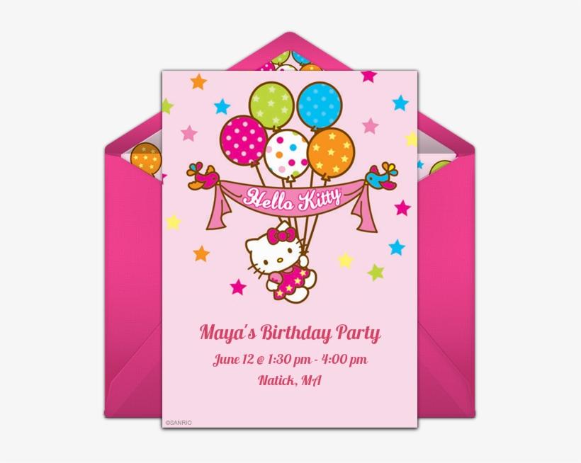 Hello Kitty Birthday Online Invitation