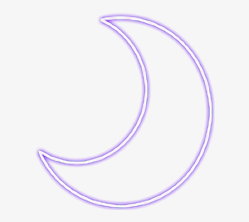 Purple Moon Snapchat Neon Sign Glowing Neonsign - Circle