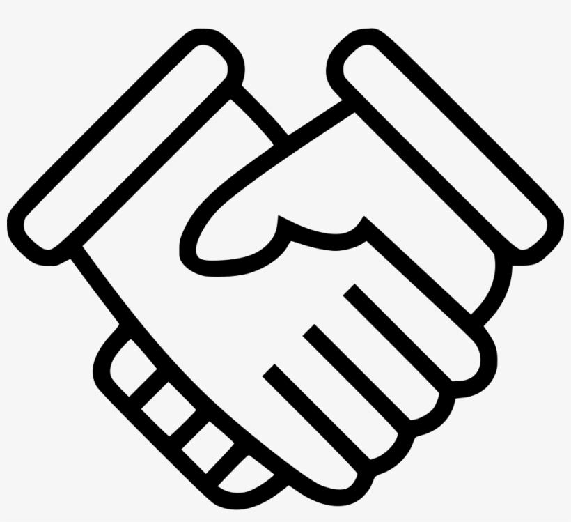 Hands Shaking Comments - Handshake Icon Transparent PNG ...