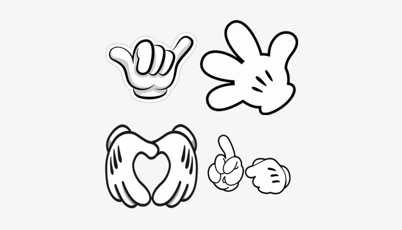 graphic regarding Mickey Mouse Hands Printable named mickey mouse hand template -