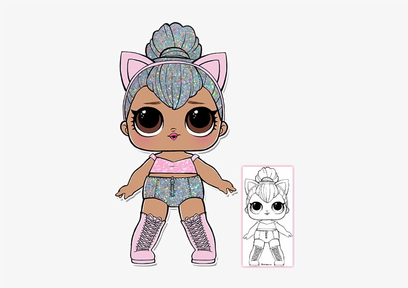 Kitty Queen Coloring Page Lol Surprise Doll Kitty Queen