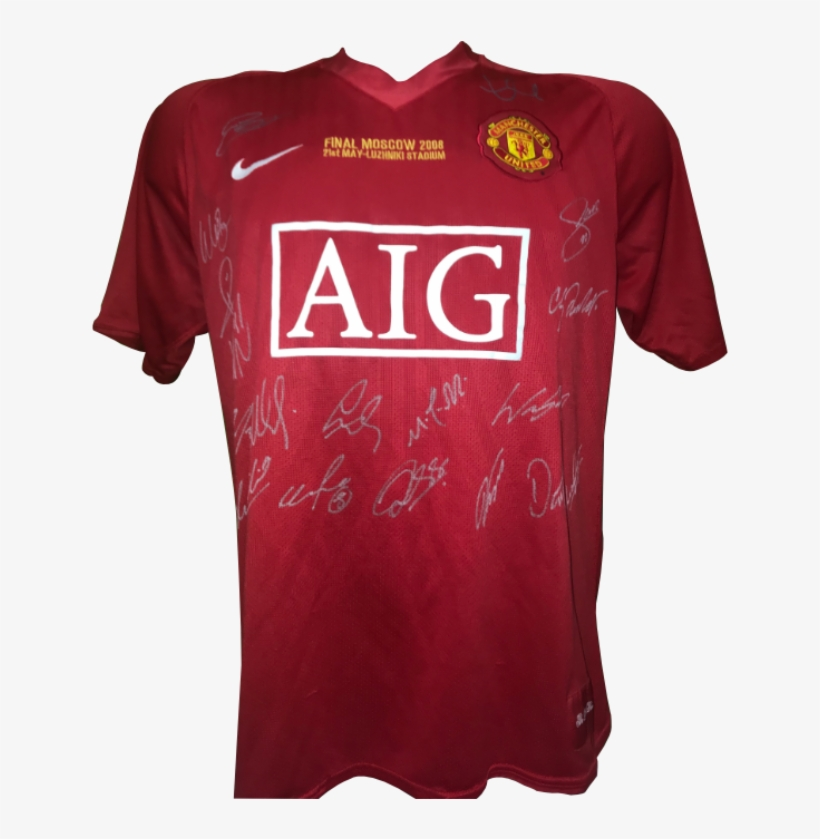 low priced aea68 58d3a Manchester United Signed 2008 Champions League Winning ...