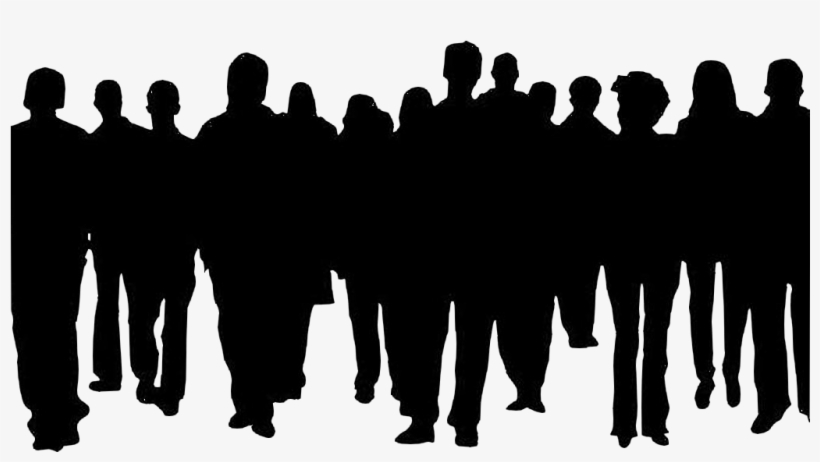 Shadow-01 - Crowds Of People Silhouette Transparent PNG