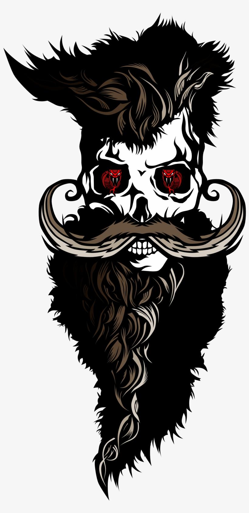 Svg Freeuse Download Tee Shirt Tete De Mort Hipster Barbu