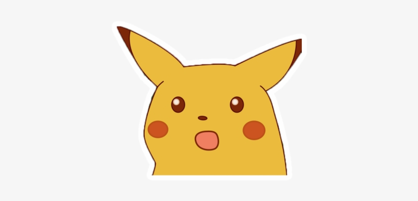 Surprised Pikachu Meme Transparent Png 414x360 Free Download