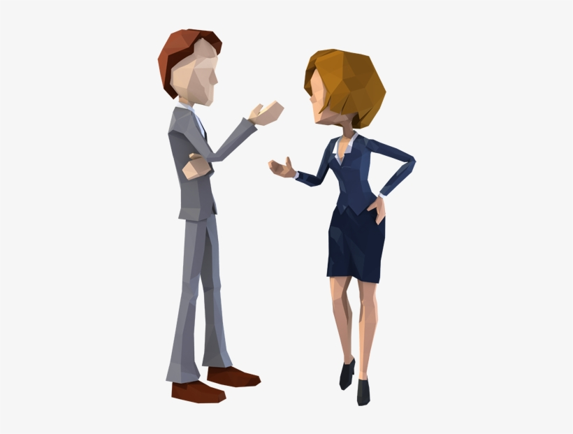 The Gallery For Two Business People Talking Png Cartoon Characters Talking Png Transparent Png 600x600 Free Download On Nicepng