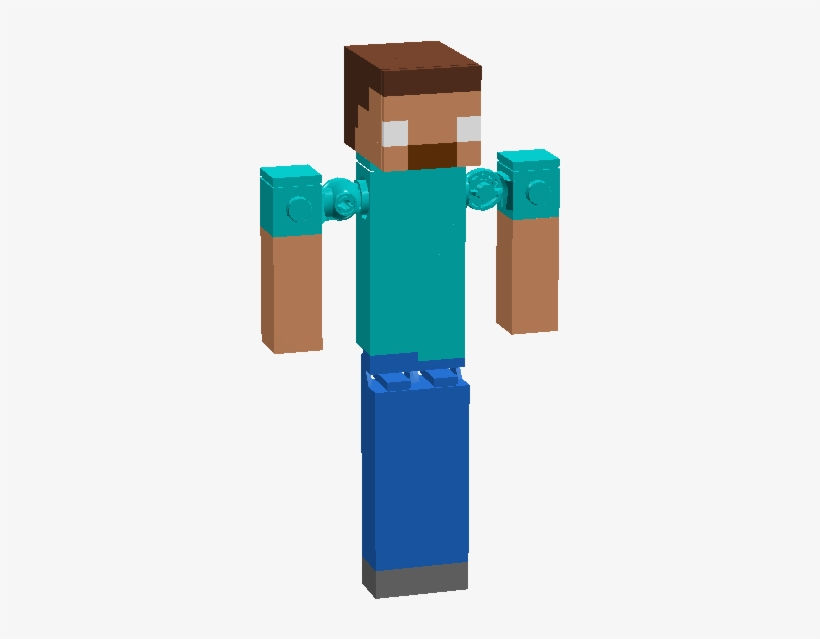 Minecraft Steve Lego Figure Minecraft Transparent Png