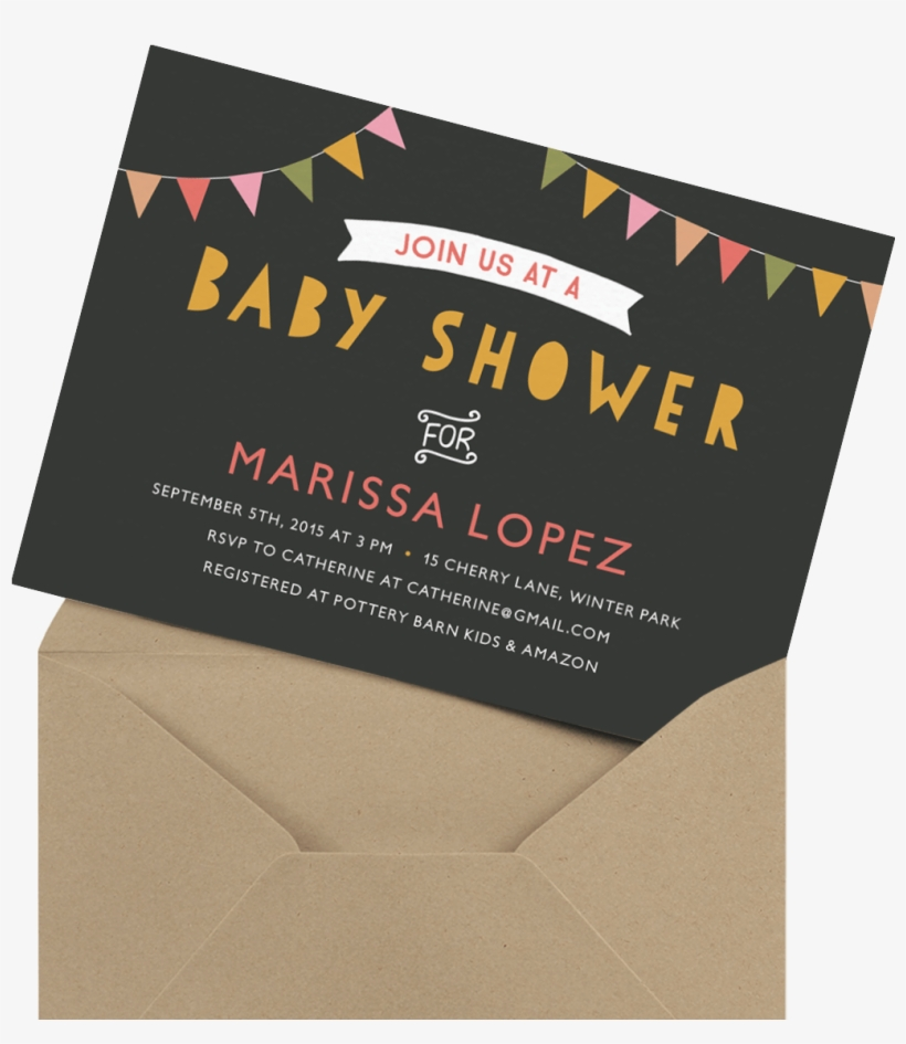 Fun Banner Baby Shower Invite Baby Shower Transparent Png 1200x1200 Free Download On Nicepng