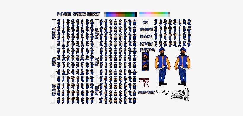 Nes Pirate Sprite Sheet 2 - Illustration Transparent PNG