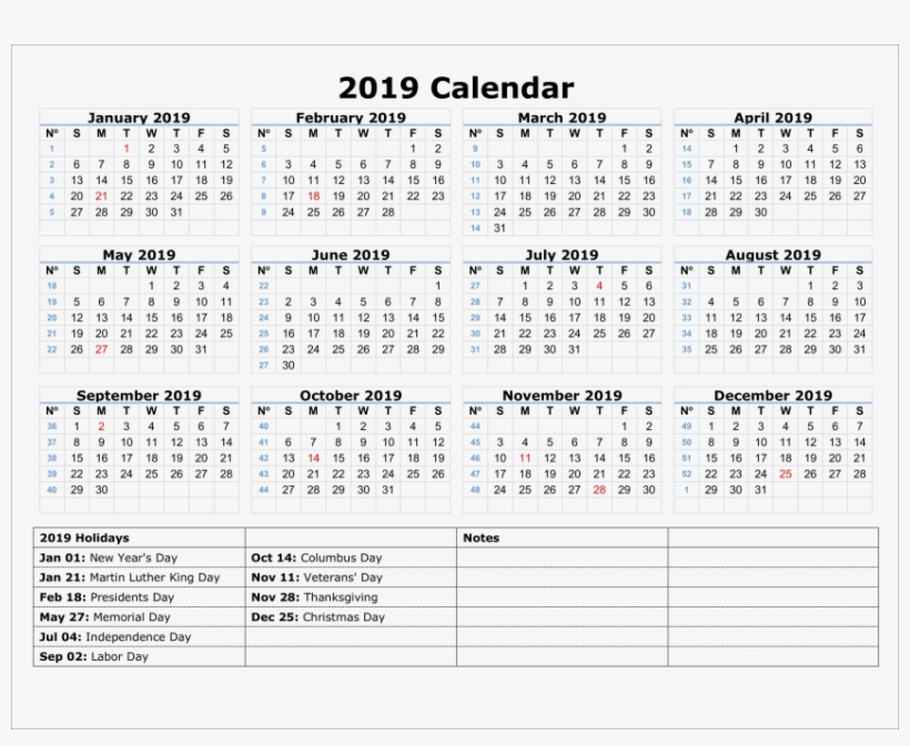 picture about Indians Printable Schedule named 2019 Indian Calendar Png Png - 2019 Calendar Printable With