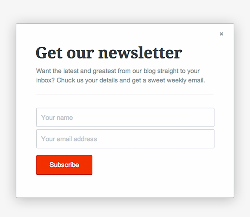 3a515c8f71 Pop-up Form Email Newsletter Sign Up - Subscribe To Our Newsletter ...