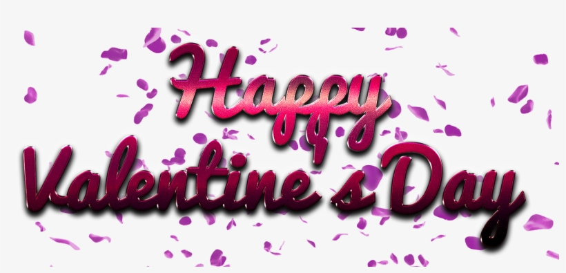 Happy Valentines Day Word Png Valentine S Day Transparent Png 1445x626 Free Download On Nicepng