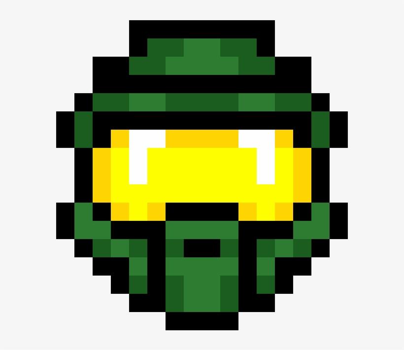 Spartan Helmet Master Chief Helmet Pixel Art Transparent