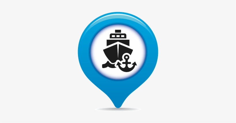 Map-icon - Port Symbol On Map Transparent PNG - 500x500