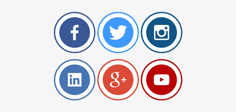 Social Icons Png Transparent - Black And White Social Media