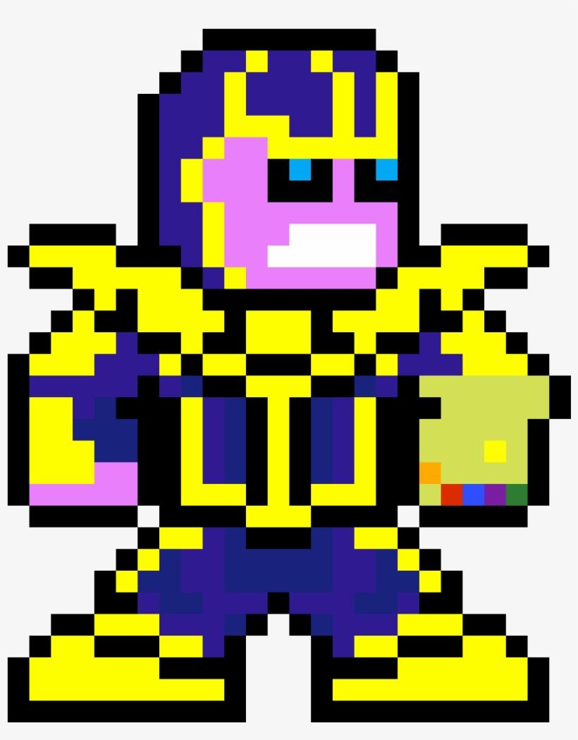 Thanos Thanos Pixel Art Grid Transparent Png 1152x1188