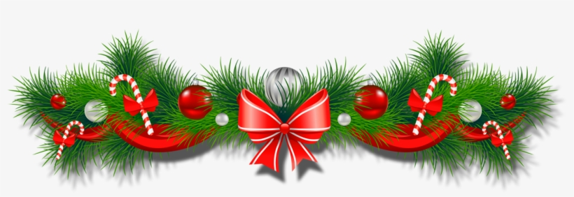 Happy New Year Christmas Garland Border Png Transparent Png