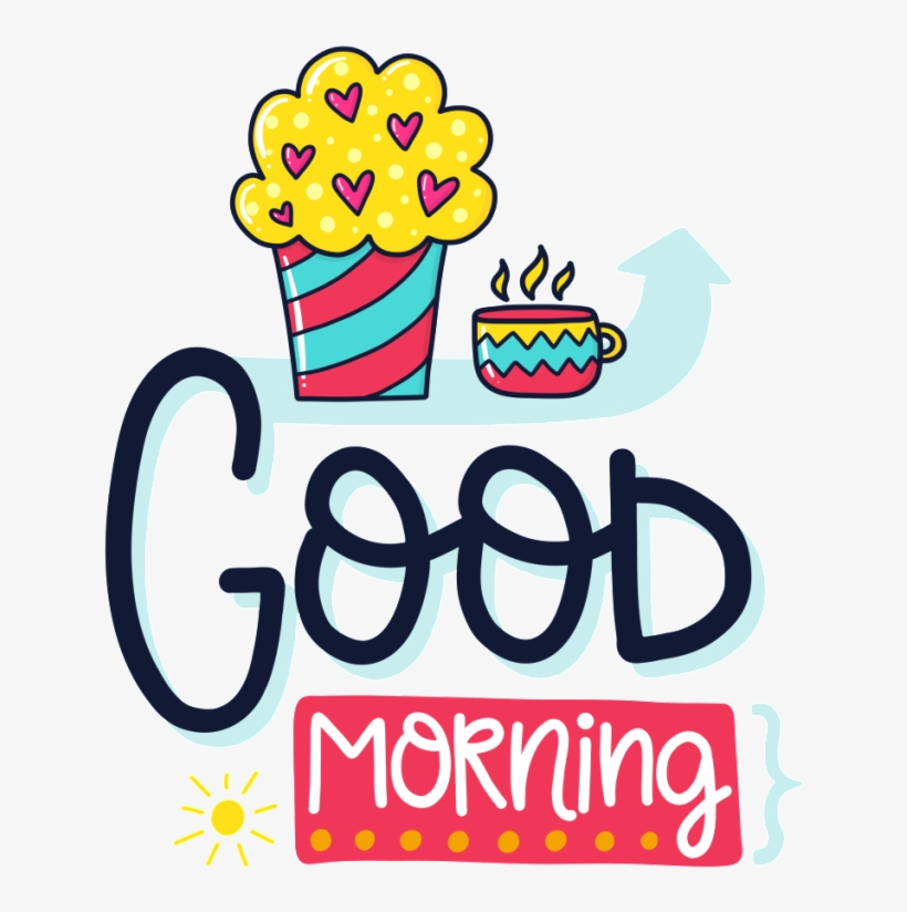 Hand Drawn Good Morning Cartoon Card Vector Good Night Throw