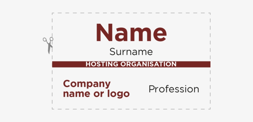 Name Badge Template Bni Badge Layout For Free Over Badge