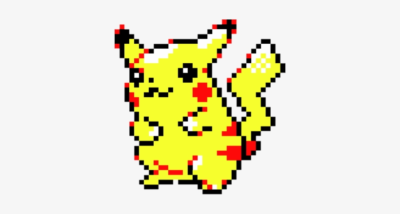 Pixel Pikachu Pikachu Pokemon Red And Blue Transparent Png