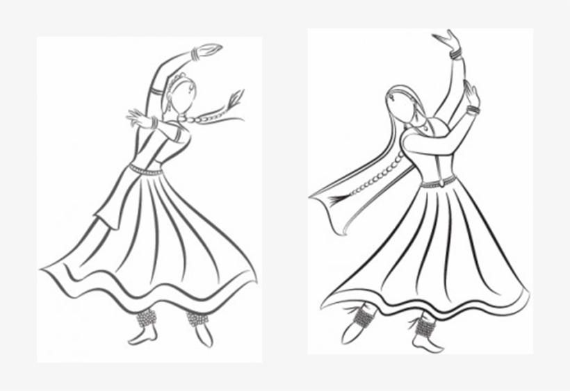 Kathak Easy Kathak Dance Drawing Transparent Png 716x483 Free Download On Nicepng