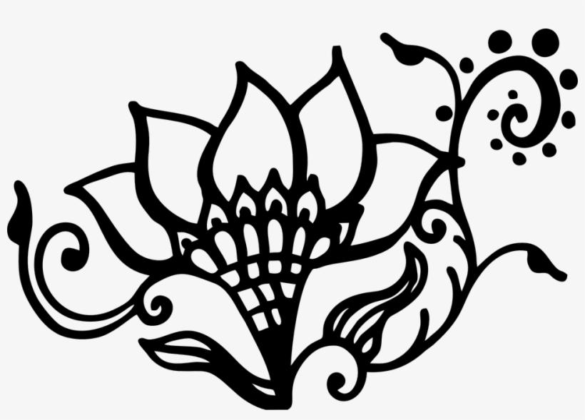 Download Hd Free Vector Graphic Gambar Bunga Dari Henna