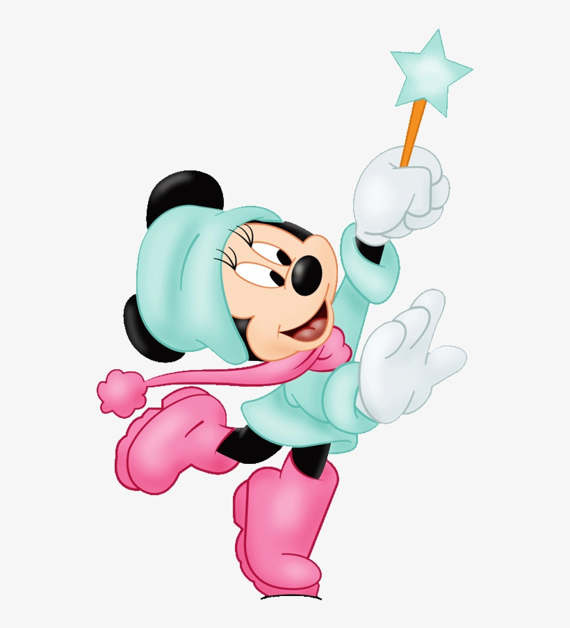 Minnie mouse winter. Free download png clipart