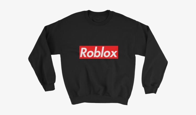 35430450799 Supreme Roblox Sweatshirt - Black Sweatshirt Transparent PNG ...