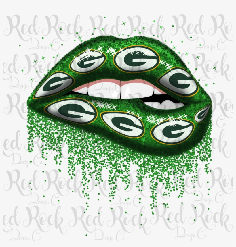Green Bay Packers Glitter Lips Transparent Png 1024x1024 Free Download On Nicepng