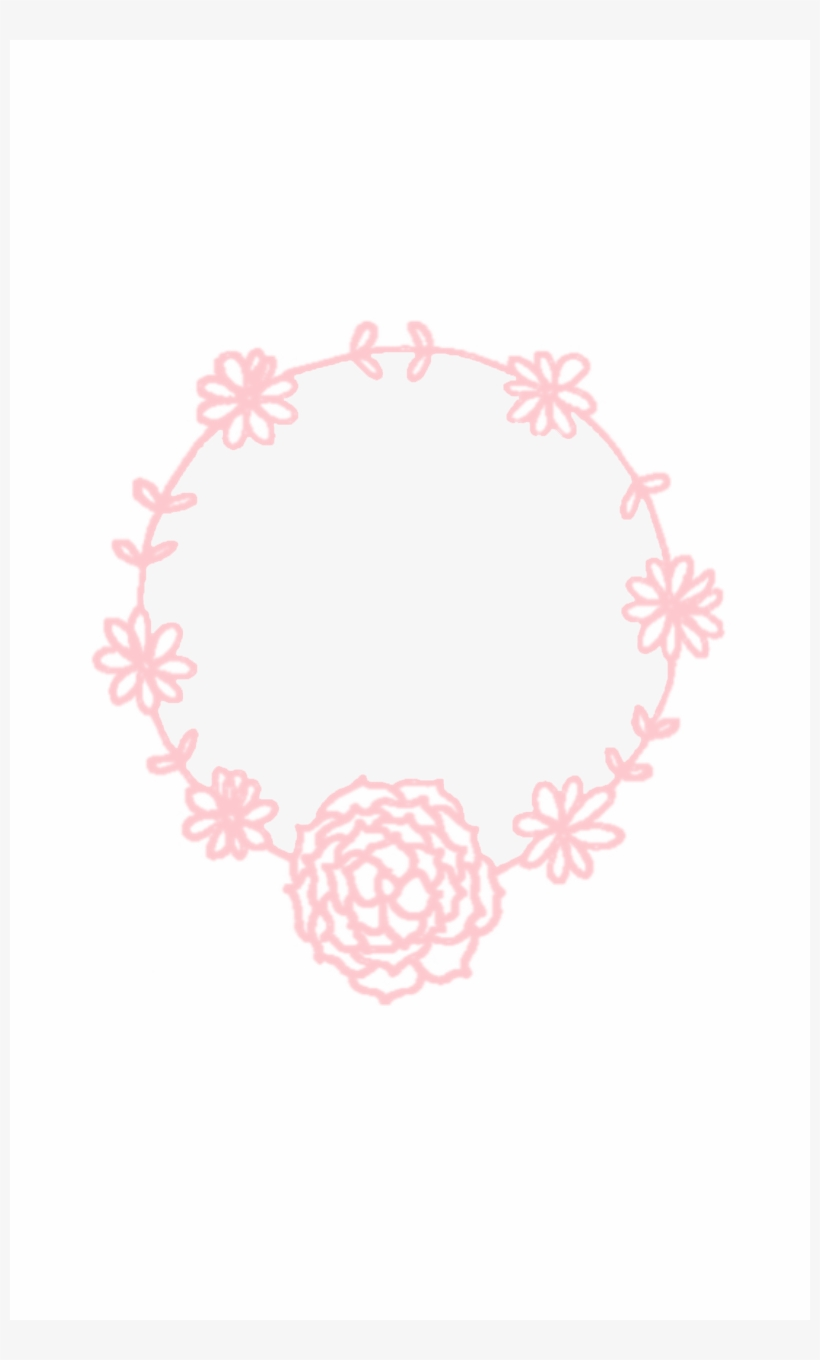 Minimal Pink White Floral Wreath Iphone Background Wreath